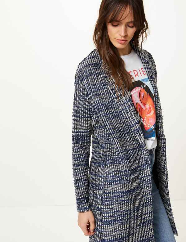 Textured Unlined Tweed Cardi Coat efd484c24151