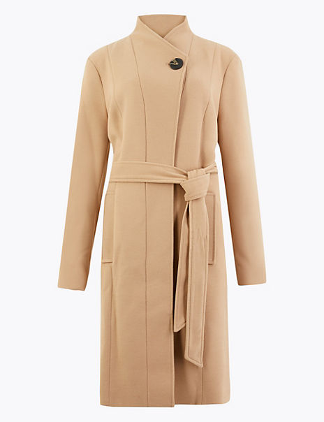 CURVE Belted Wrap Coat