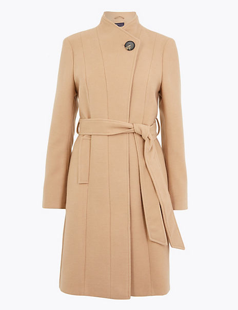 PETITE Belted Wrap Coat
