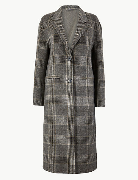 Checked Double Faced Coat