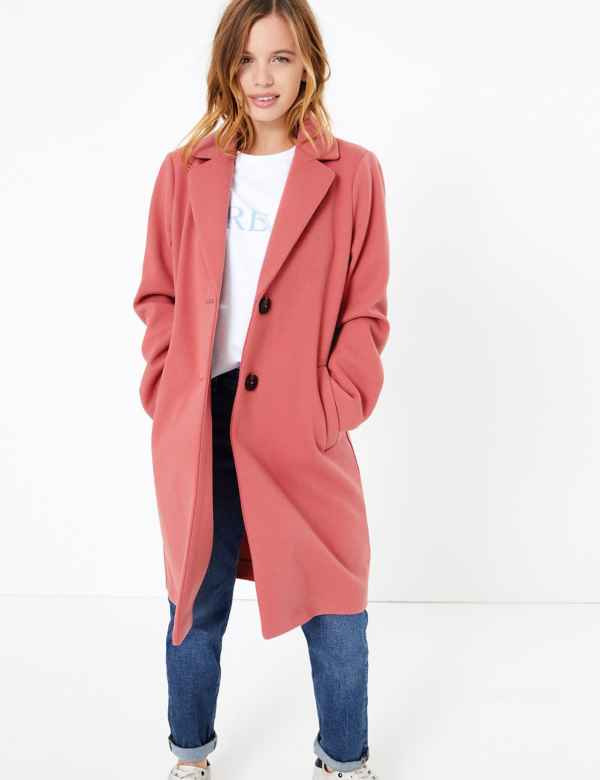 990e4120fd3e PETITE Single Breasted Coat