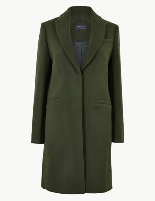 Soft Touch City Coat by Marks & Spencer