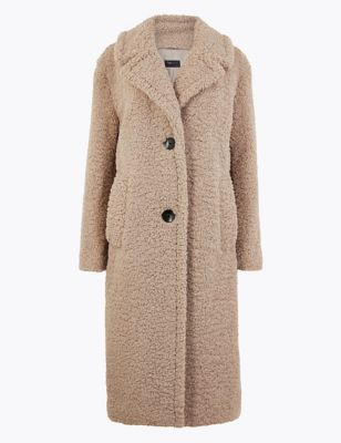 Faux Fur Teddy Coat by Marks & Spencer