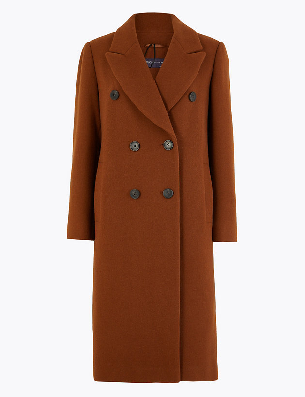 Petite Double Breasted Overcoat by Standard Tracked Delivery