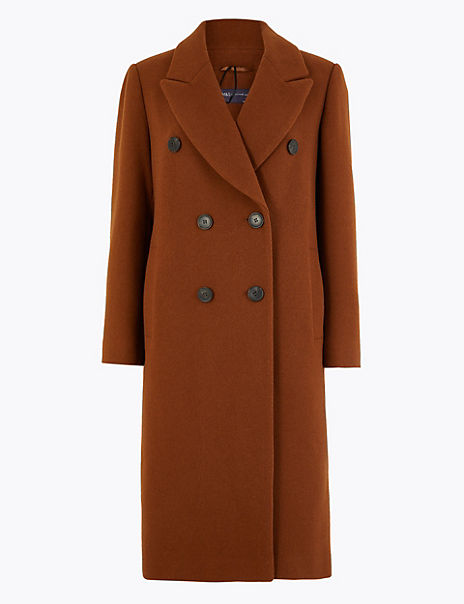 PETITE Double Breasted Overcoat