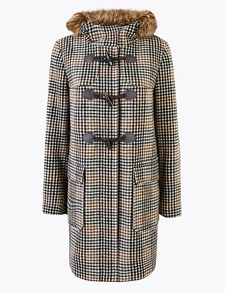 Checked Duffle Coat