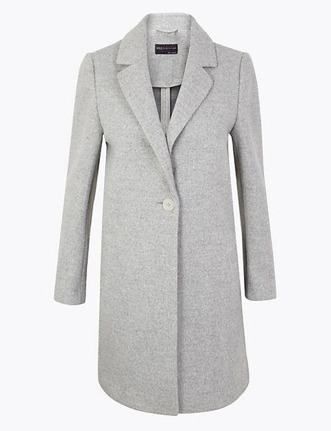 PETITE Single Button Chuck on Coat