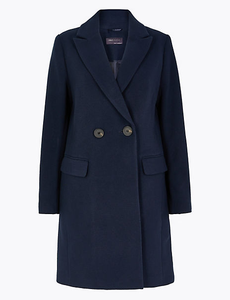 Soft Touch Double Breasted City Overcoat