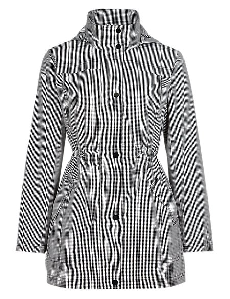 Gingham Checked Parka with Stormwear™