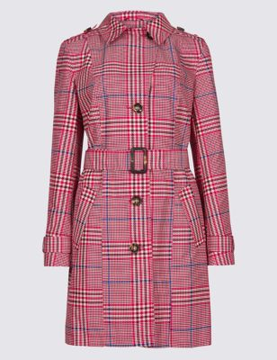 Checked Trench Coat by Marks & Spencer