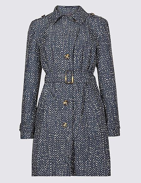 Herringbone Trench Coat with Stormwear™
