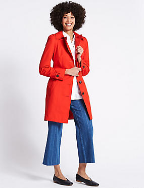 Trench Coat with Stormwear™, POPPY, catlanding