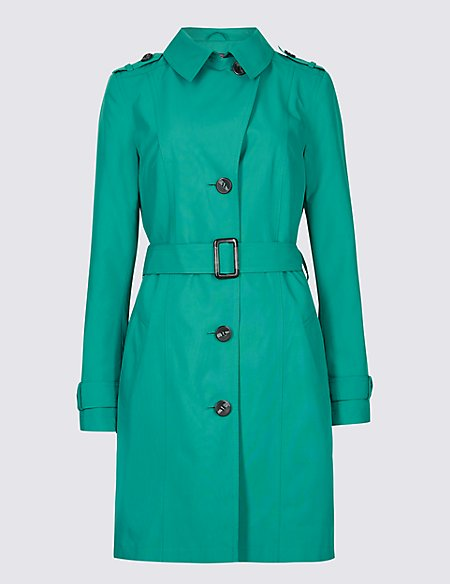 Trench Coat with Stormwear jade Marks and Spencer