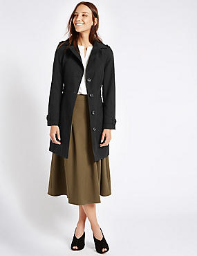 Trench Coat with Stormwear™, BLACK, catlanding