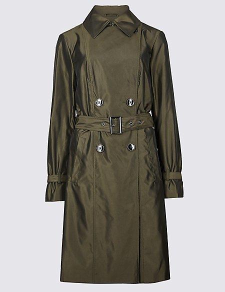 Metallic Trench Coat with Stormwear™