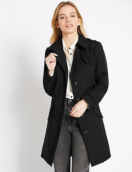 1b19385f0c081 PETITE Belted Trench Coat with Stormwear trade