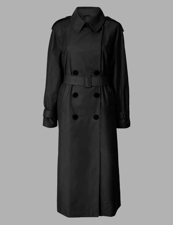 a3d1edd18882 Cotton Blend Double Breasted Trench Coat. Autograph