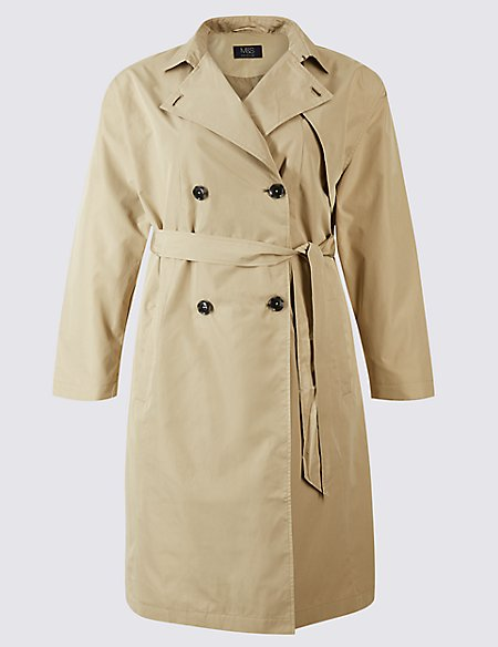 CURVE Belted Trench Coat navy Marks and Spencer Outlet Official ShlR1zgUvd