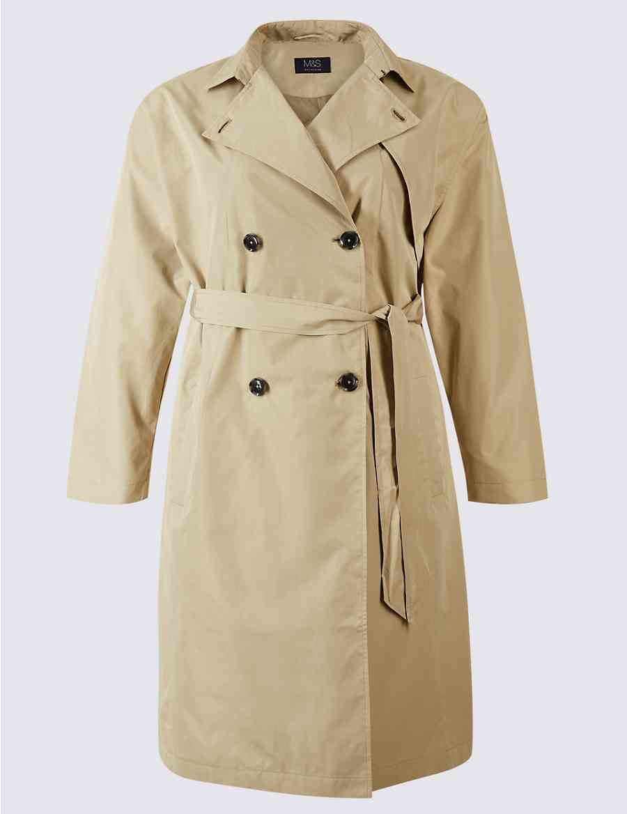 d9d43986152e1 CURVE Belted Trench Coat