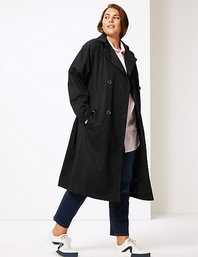 curve longline trench coat marks spencer london