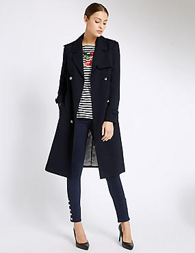 Textured Trench Coat