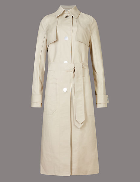 Cotton Rich Belted Coat with Stormwear™