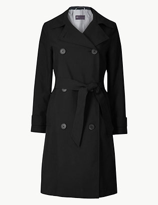 Petite Double Breasted Trench Coat by Standard Tracked Delivery