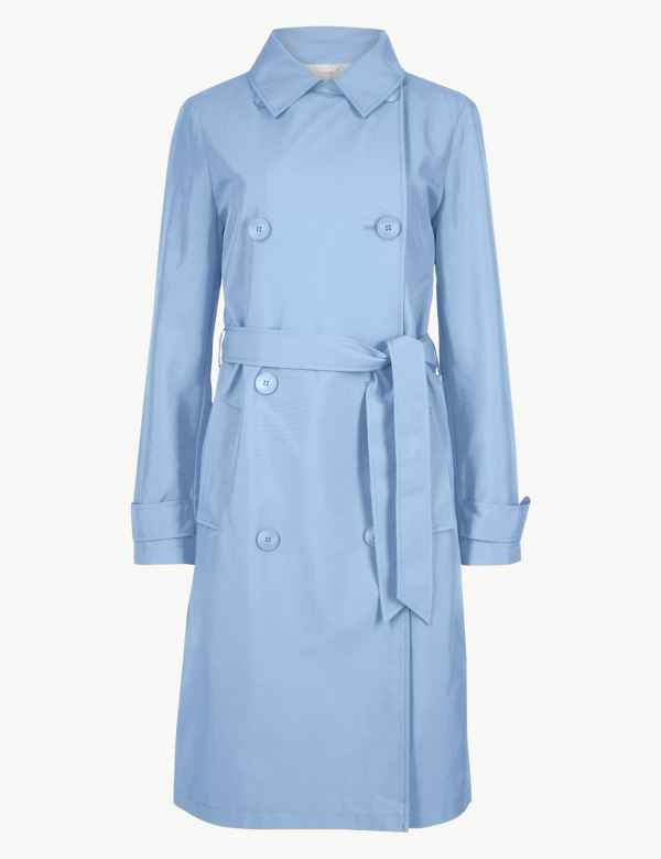 58a0d264b49b Double Breasted Trench Coat | M&S Collection | M&S