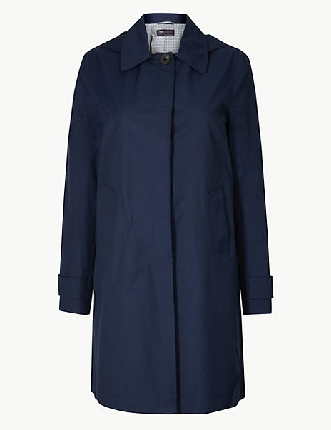 Button Detailed Hooded Longline Coat