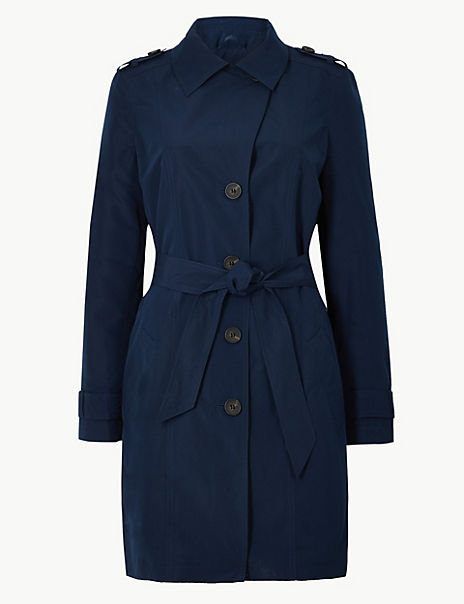 Button Detailed Trench Coat