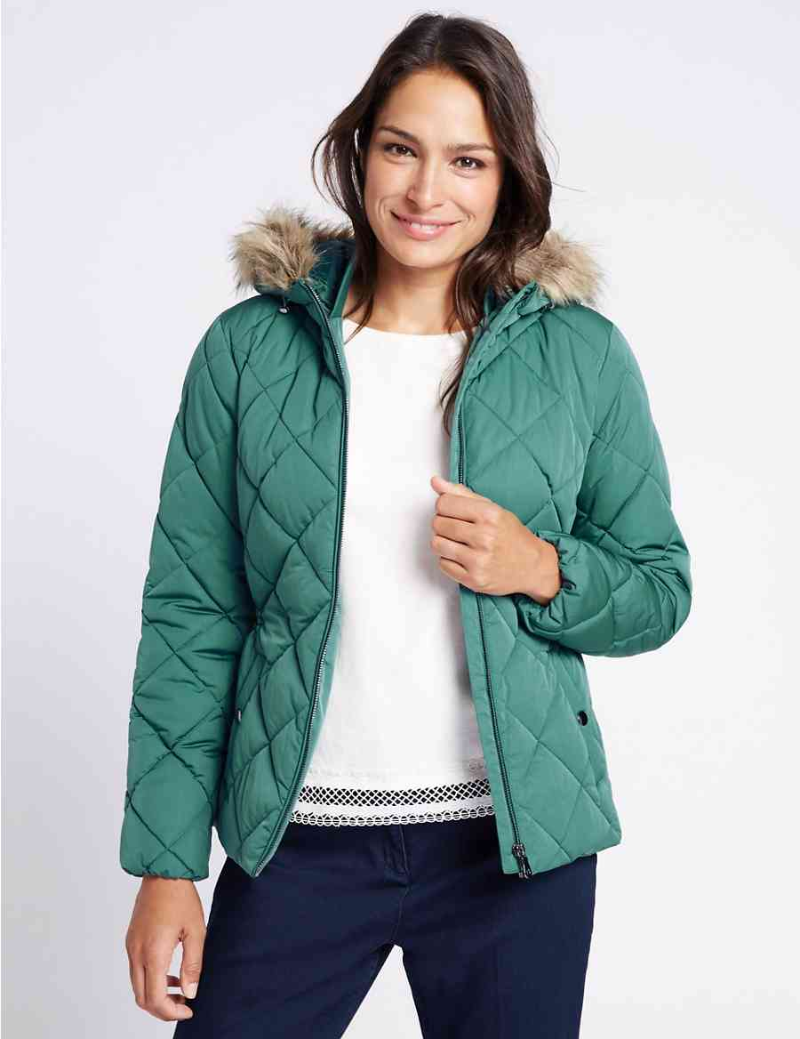 17004e79eca7 Padded   Quilted Jacket with Stormwear™   Classic   M S