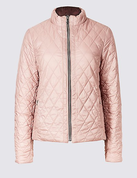 Reversible Quilted Jacket with Down & Feather