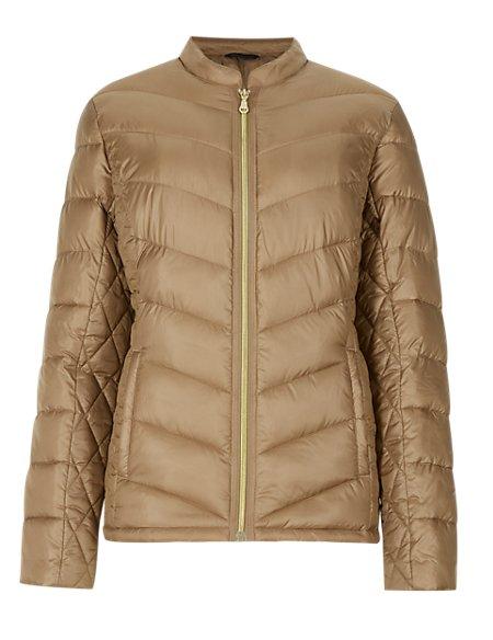 Nehru Collar Padded Jacket with Stormwear™
