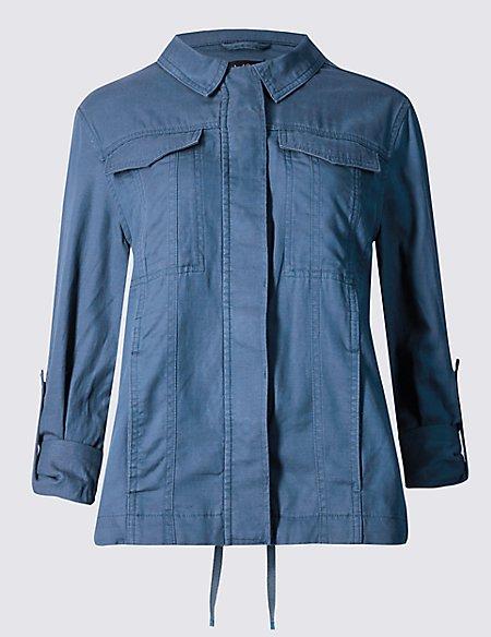Turn Up Sleeve Jacket