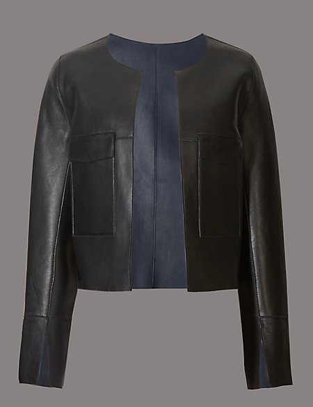 Leather Reversible Edge To Edge Jacket