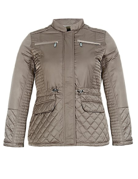 PLUS 4 Pockets Quilted Jacket with Thinsulate™ & Stormwear™