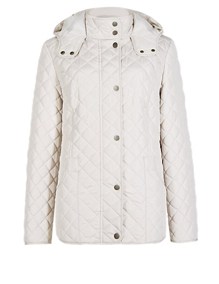 Hooded & Quilted Anorak with Stormwear™