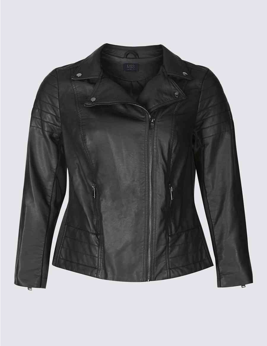CURVE Faux Leather Biker Jacket