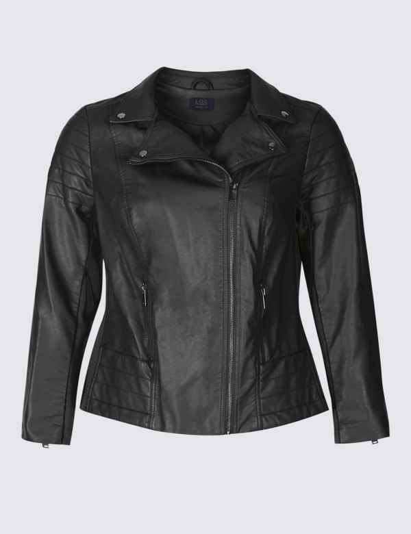 dbfdf41aaca CURVE Faux Leather Biker Jacket