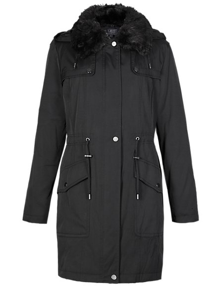 Faux Fur Hooded Parka with Stormwear™