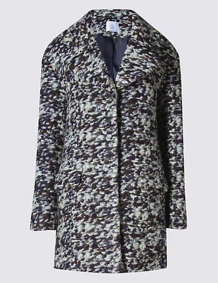 Bouclé Overcoat with Wool