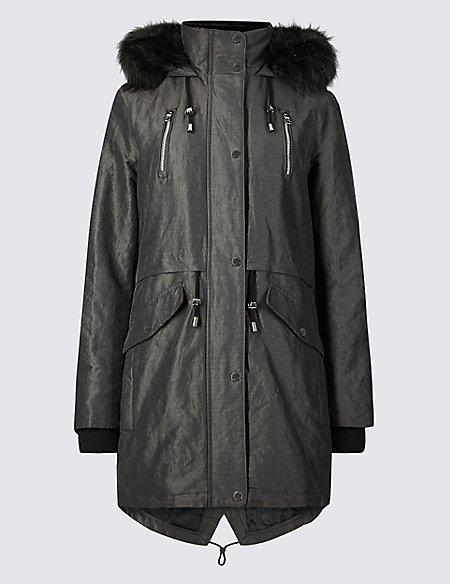Metallic Zipped Parka with Stormwear™
