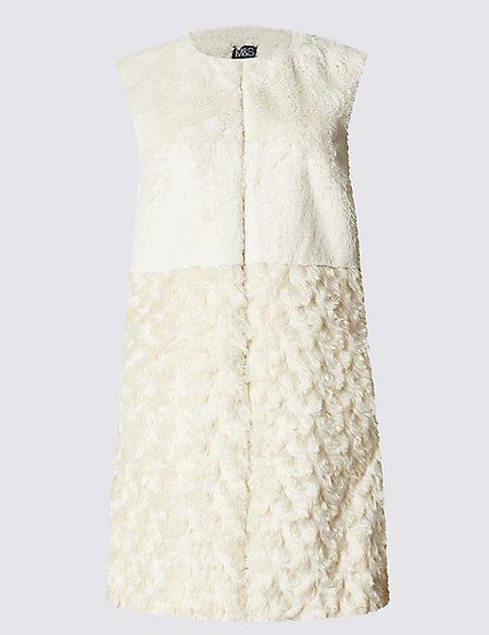 Faux Fur Gilet Coat
