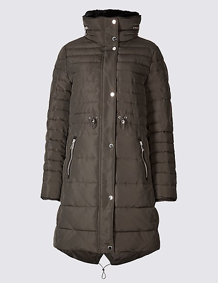 Geniue Stockist Double Layer Padded Jacket with Stormwear khaki Marks and Spencer Clearance Footlocker Finishline Free Shipping Looking For Ebay Cheap Online w2eAuiL