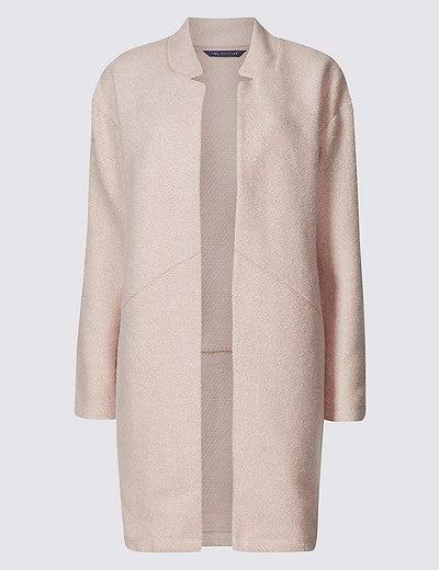 5dff91a9ee8d Textured Open Front Coat