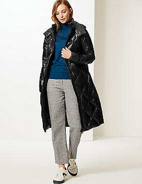 Padded Down & Feather Coat with Stormwear™, BLACK, catlanding