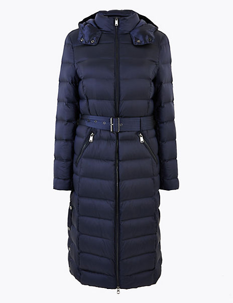 Feather & Down Belted Coat