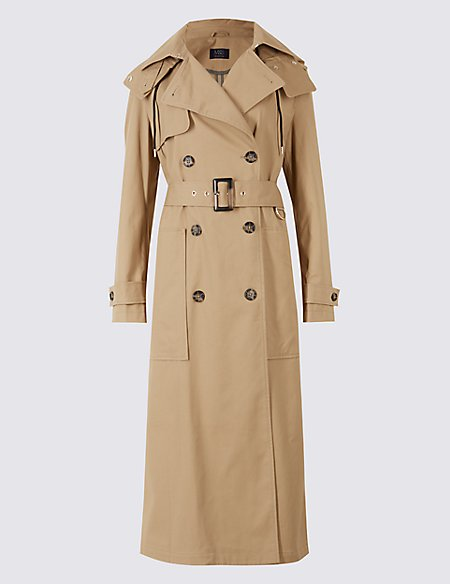 Trench Coat with Stormwear black Marks and Spencer Cheap Online Store Wiki For Sale Buy Authentic Online bLENoBiS