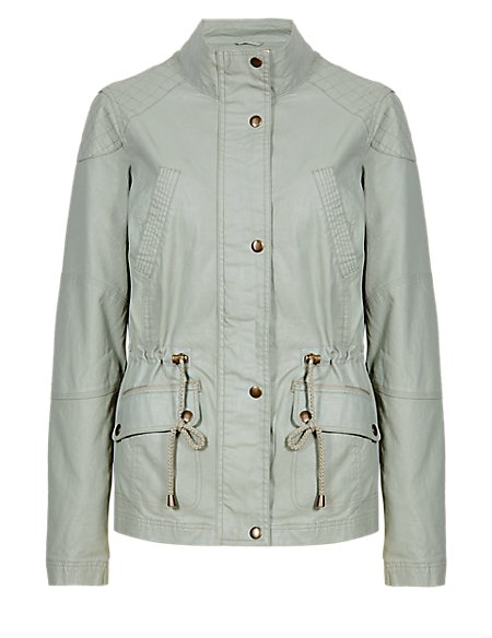 Waxy Jacket with Linen