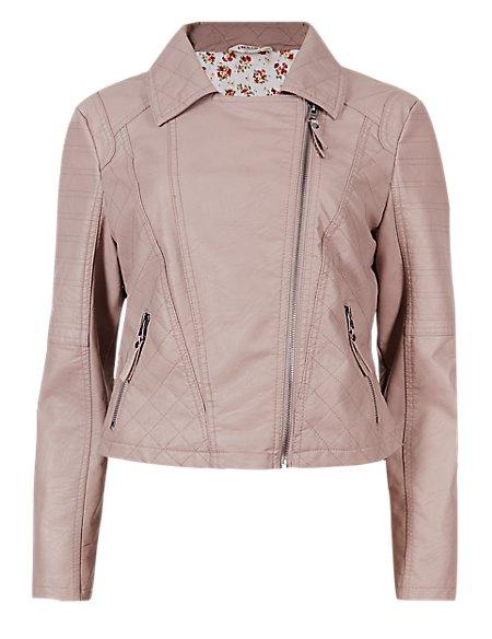 Zipped Biker Jacket